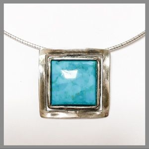 SILPADA 925 Square Turquoise Necklace N1509